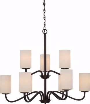 Picture of NUVO Lighting 60/5909 Willow - 9 Light 2-Tier Hanging Fixture with White Glass