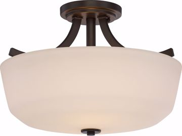 Picture of NUVO Lighting 60/5926 Laguna - 2 Light Semi Flush with White Glass