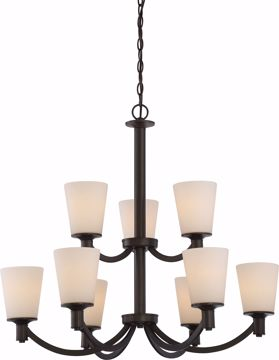 Picture of NUVO Lighting 60/5929 Laguna - 9 Light 2-Tier Hanging with White Glass