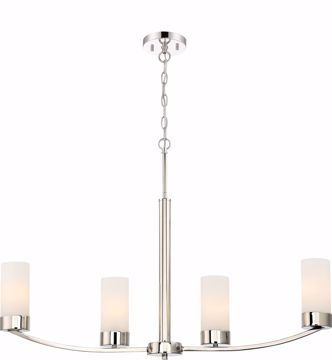 Picture of NUVO Lighting 60/6228 Denver 4 Island Pendant Fixture - Polished Nickel Finish