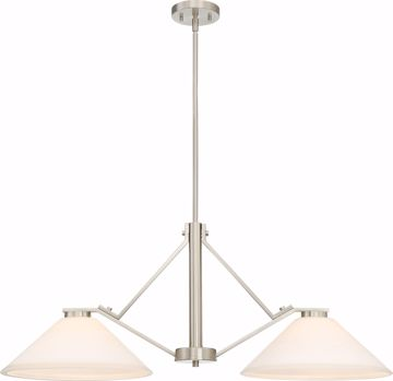 Picture of NUVO Lighting 60/6248 Nome 2 Light Island Pendant Fixture - Brushed Nickel Finish