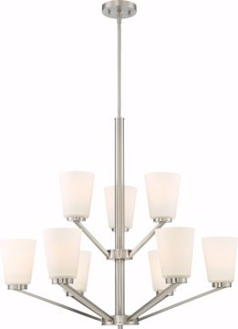 Picture of NUVO Lighting 60/6249 Nome 9 Light Chandelier Fixture - Brushed Nickel Finish