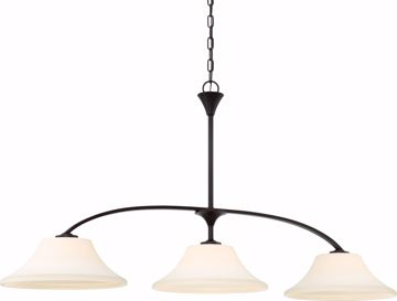 Picture of NUVO Lighting 60/6308 Fawn 3 Light Island Pendant Fixture - Mahogany Bronze Finish