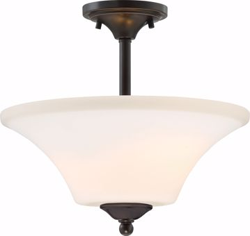 Picture of NUVO Lighting 60/6312 Fawn 2 Light Semi Flush Fixture - Mahogany Bronze Finish
