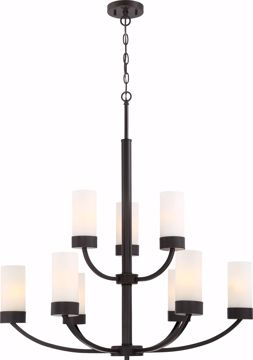 Picture of NUVO Lighting 60/6329 Denver 9 Light Chandelier Fixture - Mahogany Bronze Finish