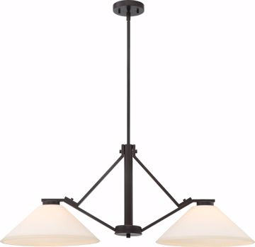 Picture of NUVO Lighting 60/6348 Nome 2 Light Island Pendant Fixture - Mahogany Bronze Finish