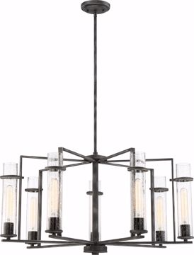 Picture of NUVO Lighting 60/6387 Donzi - 7 Light Chandelier Fixture - Iron Black Finish