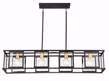 Picture of NUVO Lighting 60/6417 Payne - 4 Light Island Pendant With Clear Beveled Glass