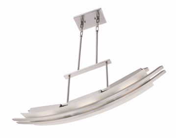 Picture of NUVO Lighting 62/133 Trax - 3 Module Island Pendant with Frosted Glass