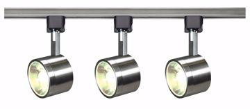 Picture of NUVO Lighting TK407 Track Lighting Kit; 12 watt LED; 3000K; 36 degree; Round shape; Brushed nickel finish