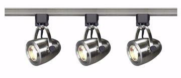 Picture of NUVO Lighting TK417 Track Lighting Kit; 12 watt LED; 3000K; 36 degree; Pinch back; Brushed Nickel finish