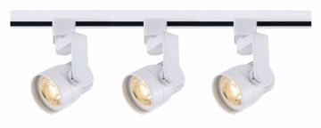 Picture of NUVO Lighting TK423 Track Lighting Kit; 12 watt LED; 3000K; 36 degree; Round shape with angle arm; White finish