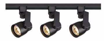 Picture of NUVO Lighting TK424 Track Lighting Kit; 12 watt LED; 3000K; 36 degree; Round shape with angle arm; Black finish