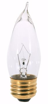 Picture of SATCO A3665 40W TT Standard Clear 130V Incandescent Light Bulb