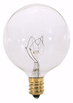 Picture of SATCO A3931 60W G16 1/2 CAND CLEAR 130V. Incandescent Light Bulb