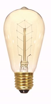 Picture of SATCO S2414 40ST19/CL/9S/120V VINTAGE Incandescent Light Bulb