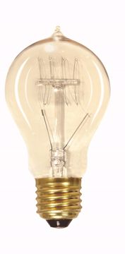 Picture of SATCO S2419 60A19/CL/120V VINTAGE Incandescent Light Bulb
