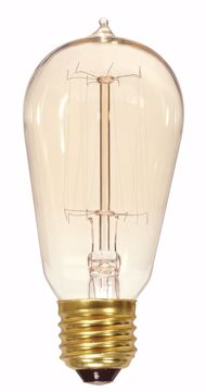 Picture of SATCO S2423 60ST19/CL/15S/120V VINTAGE Incandescent Light Bulb