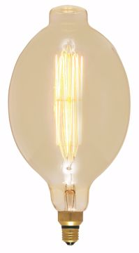 Picture of SATCO S2432 60BT56/AMBER/E26/VINTAGE/120V Incandescent Light Bulb