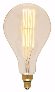 Picture of SATCO S2433 60PS52/AMBER/E26/VINTAGE/120V Incandescent Light Bulb