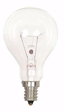 Picture of SATCO S2742 60A15 CAND CL E12 2PK/CD Incandescent Light Bulb