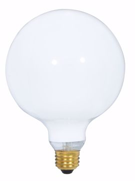 Picture of SATCO S3000 25W G-40 WHITE Incandescent Light Bulb