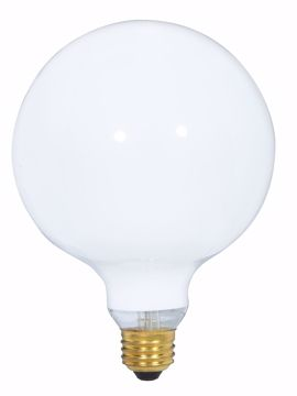 Picture of SATCO S3003 100W G-40 WHITE Incandescent Light Bulb