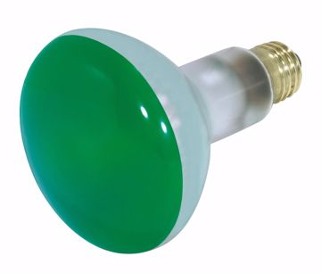 Picture of SATCO S3227 75BR30 GREEN Incandescent Light Bulb