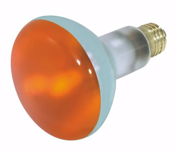 Picture of SATCO S3239 75W BR30 Standard AMBER Incandescent Light Bulb