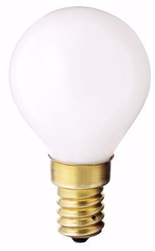 Picture of SATCO S3398 40W G-14 WHITE E-14 130V Incandescent Light Bulb