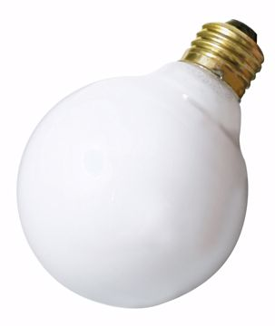 Picture of SATCO S3440 25W G25 Standard WHT Incandescent Light Bulb