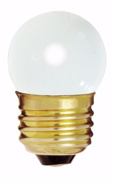 Picture of SATCO S3607 7 1/2W S11 Standard WHITE Incandescent Light Bulb