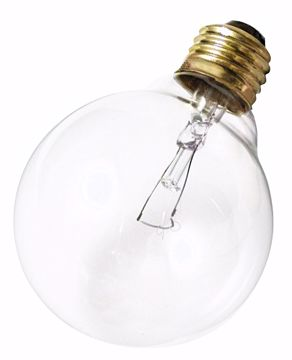 Picture of SATCO S3652 40W G-30 CLEAR MED BASE Incandescent Light Bulb