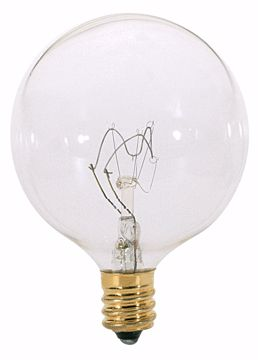 Picture of SATCO S3727 25W G16 1/2 CAND CLEAR Incandescent Light Bulb