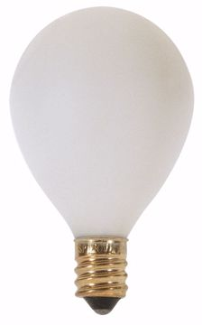 "Picture of SATCO S3751 25W G12 1/2"" CAND WHT Incandescent Light Bulb"