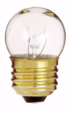 Picture of SATCO S3794 7 1/2W S11 Standard Clear Incandescent Light Bulb