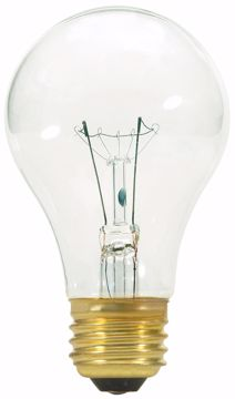 Picture of SATCO S3941 40W A19 CLEAR LIGHT BULB 130V Incandescent Light Bulb