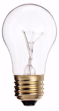 Picture of SATCO S3948 15W A-15 CLEAR MED BASE Incandescent Light Bulb