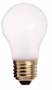 Picture of SATCO S3949 15W A-15 Frosted MED BASE Incandescent Light Bulb