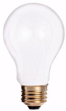 Picture of SATCO S3950 25W A-19 Frosted 130V Incandescent Light Bulb