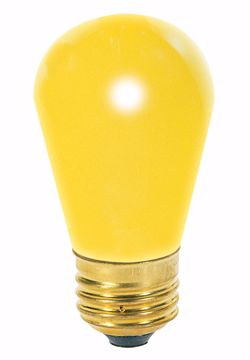 Picture of SATCO S3960 11S14 YELLOW  Incandescent Light Bulb