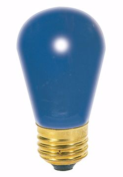 Picture of SATCO S3963 11S14 BLUE Incandescent Light Bulb
