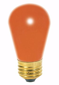 Picture of SATCO S3964 11S14 ORANGE Incandescent Light Bulb