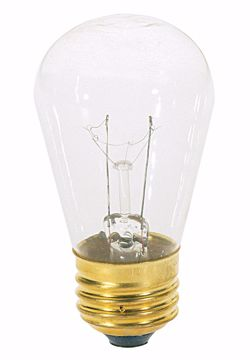 Picture of SATCO S3965 11S14 MED BASE CLEAR 130V Incandescent Light Bulb