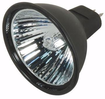Picture of SATCO S4180 EXN/B/C 38' 50MR16 BLK LENSED Halogen Light Bulb