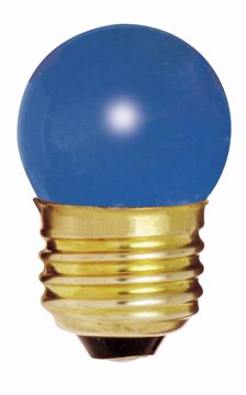 Picture of SATCO S4508 7 1/2W S11 Standard BLUE 1/CD Incandescent Light Bulb