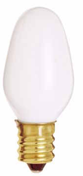 Picture of SATCO S4726 7C7/W CAND WHITE 120V CD/4 Incandescent Light Bulb