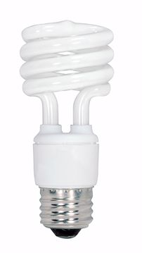 Picture of SATCO S6235 13T2/E26/2700K/120V/4PK Compact Fluorescent Light Bulb