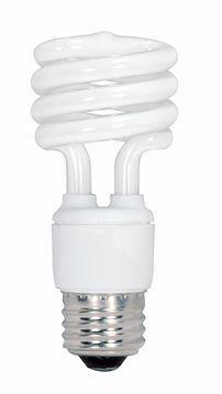Picture of SATCO S6238 13T2/E26/3500K/120V/4PK Compact Fluorescent Light Bulb