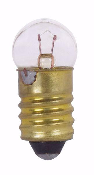 Picture of SATCO S7096 233 2.33V .63W E10 G3.5 C2R Incandescent Light Bulb